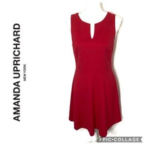 Amanda Uprichard Fit & Flare Red Dress